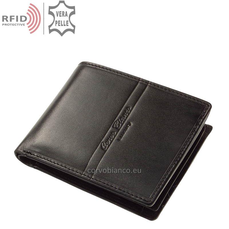 Corvo Bianco pénztárca RFID védelemmel RCBS09 fekete