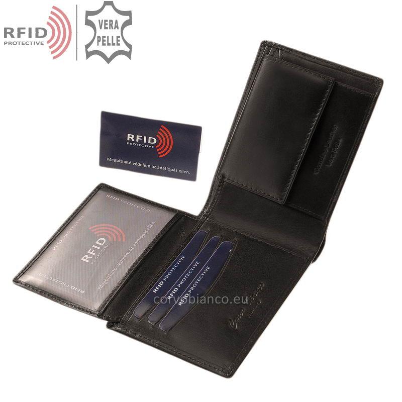 Corvo Bianco pénztárca RFID védelemmel RCBS09 fekete belső kép-2