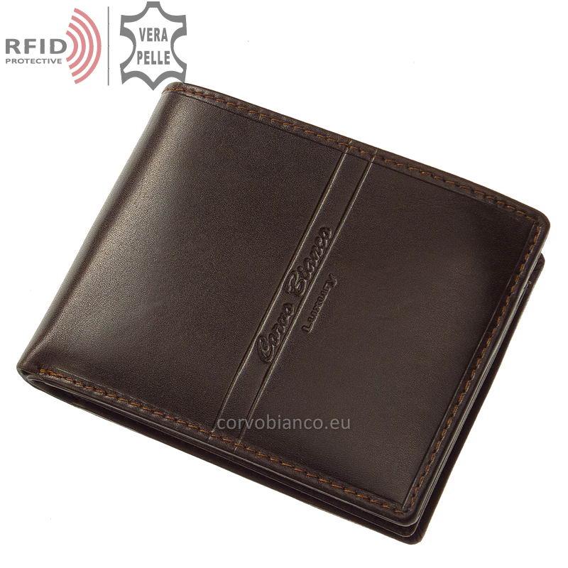 Corvo Bianco pénztárca RFID védelemmel RCBS09 barna