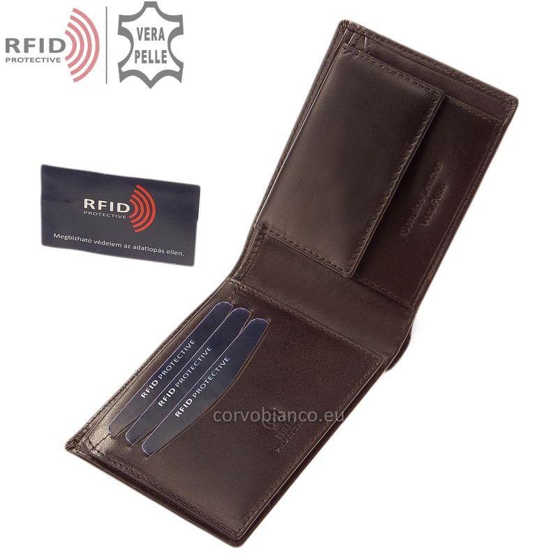 Corvo Bianco pénztárca RFID védelemmel RCBS09 barna belső kép-1