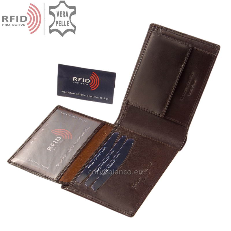 Corvo Bianco pénztárca RFID védelemmel RCBS09 barna belső kép-2