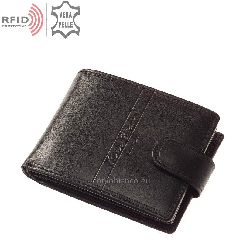 Corvo Bianco pénztárca RFID védelemmel RCBS1021/T fekete