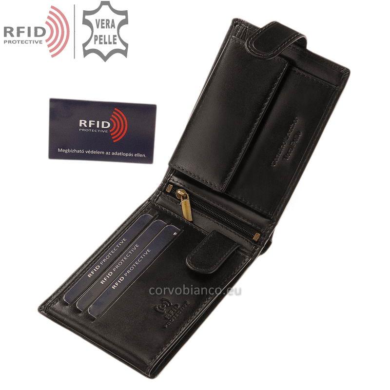 Corvo Bianco pénztárca RFID védelemmel RCBS1021/T fekete belső kép-1