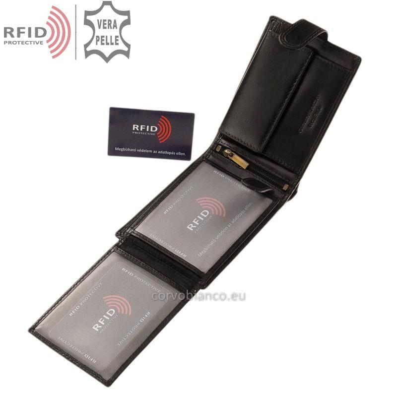 Corvo Bianco pénztárca RFID védelemmel RCBS1021/T fekete belső kép-2