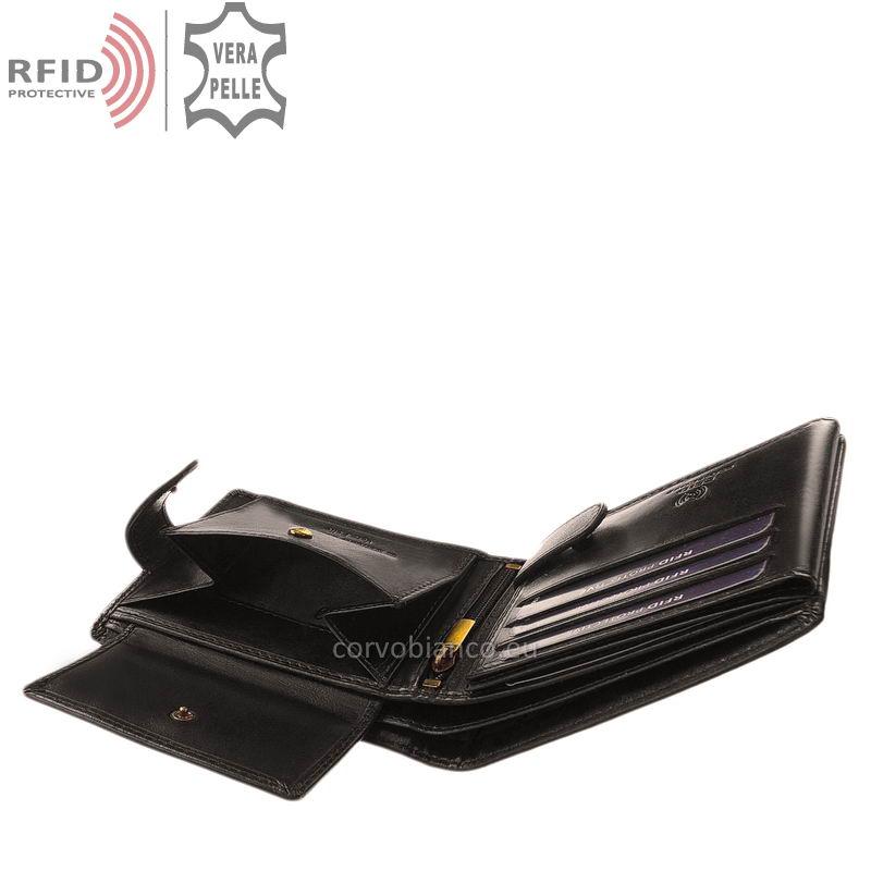 Corvo Bianco pénztárca RFID védelemmel RCBS1021/T fekete belső kép-4