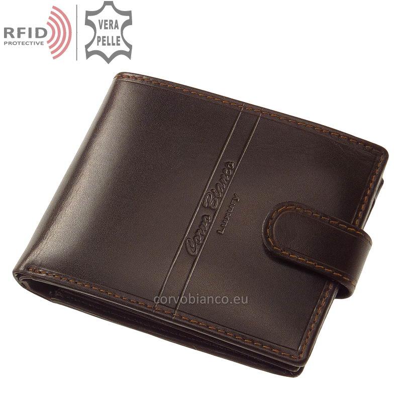 Corvo Bianco pénztárca RFID védelemmel RCBS1021/T barna