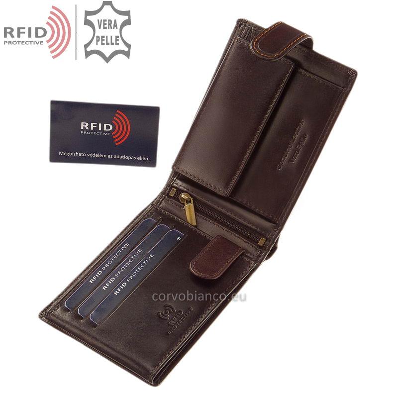 Corvo Bianco pénztárca RFID védelemmel RCBS1021/T barna belső kép-1