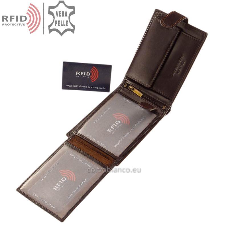 Corvo Bianco pénztárca RFID védelemmel RCBS1021/T barna belső kép-2