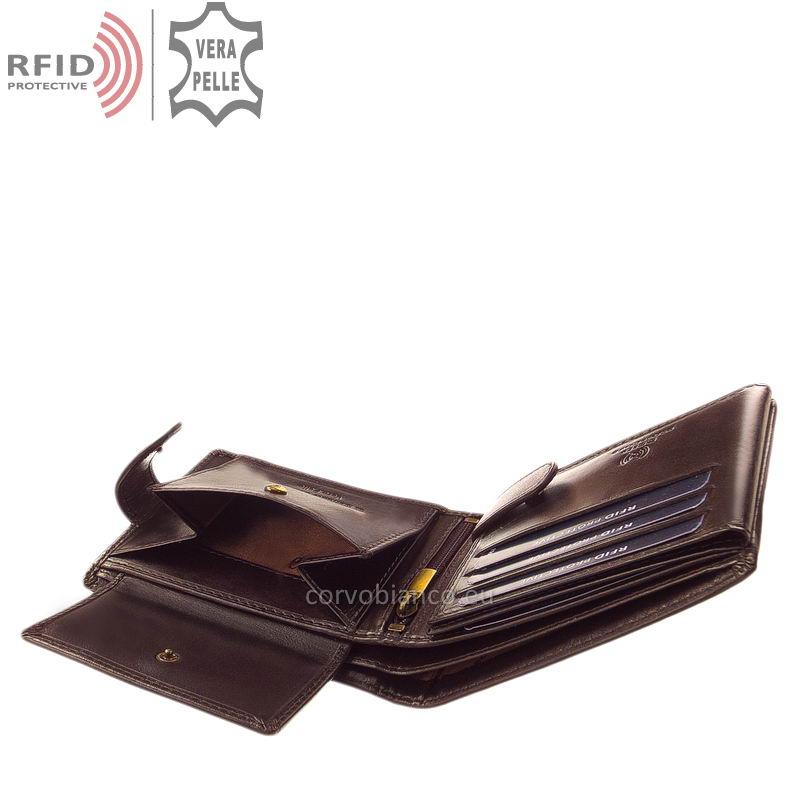 Corvo Bianco pénztárca RFID védelemmel RCBS1021/T barna belső kép-4