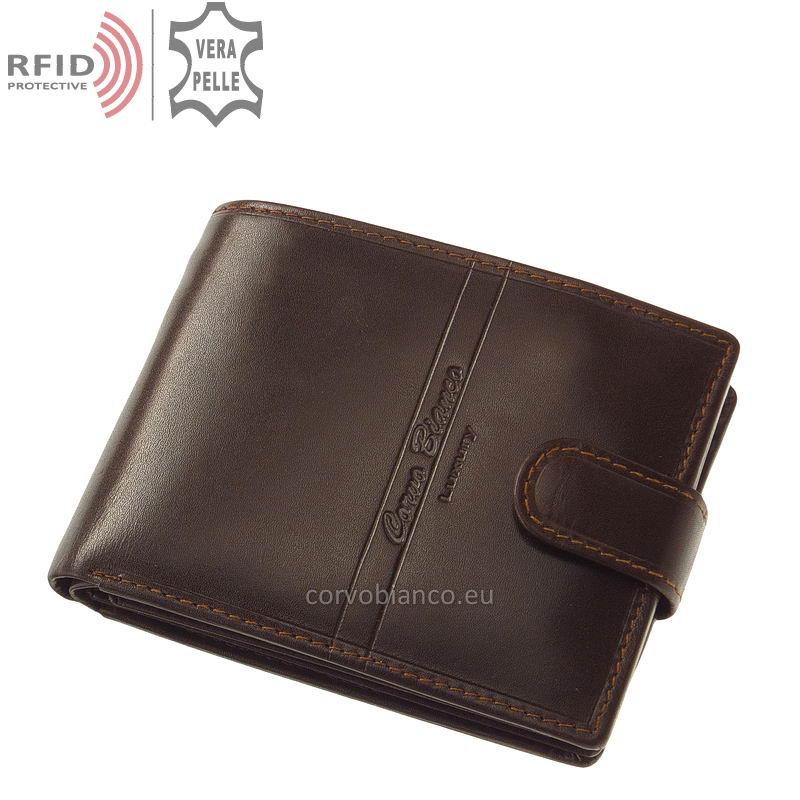 Corvo Bianco pénztárca RFID védelemmel RCBS6002L/T barna
