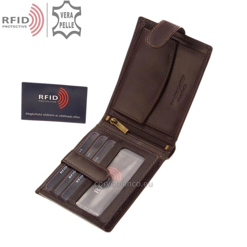 Corvo Bianco pénztárca RFID védelemmel RCBS6002L/T barna belső kép-1