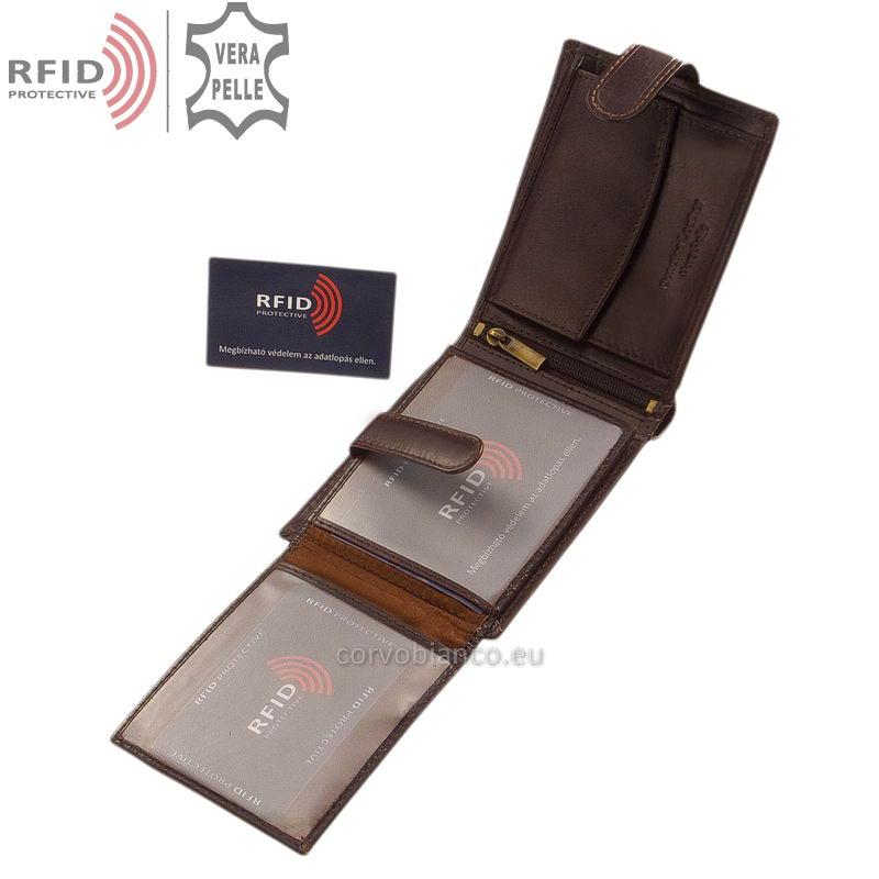 Corvo Bianco pénztárca RFID védelemmel RCBS6002L/T barna belső kép-2