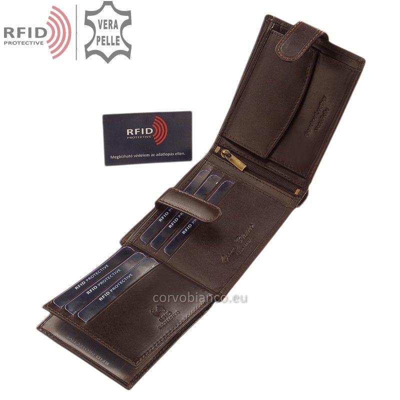 Corvo Bianco pénztárca RFID védelemmel RCBS6002L/T barna belső kép-3