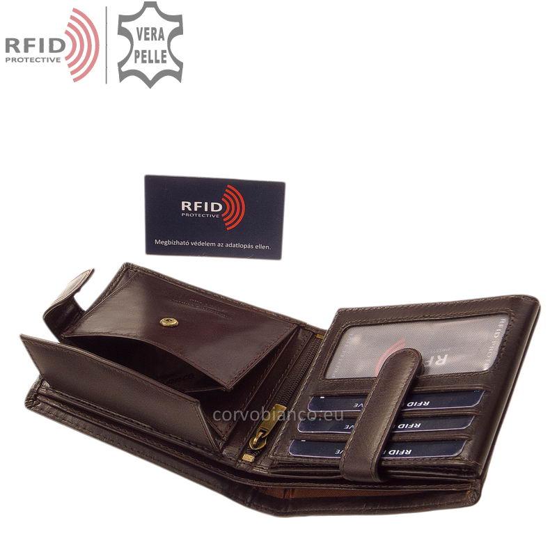 Corvo Bianco pénztárca RFID védelemmel RCBS6002L/T barna belső kép-4