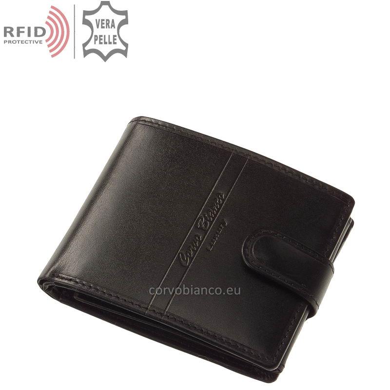 Corvo Bianco pénztárca RFID védelemmel RCBS6002L/T fekete