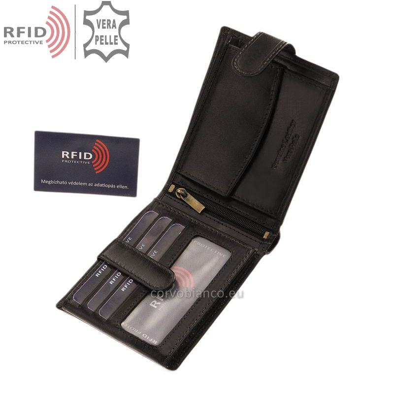 Corvo Bianco pénztárca RFID védelemmel RCBS6002L/T fekete belső kép-1