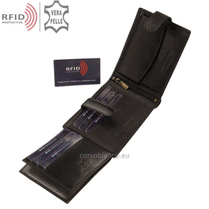 Corvo Bianco pénztárca RFID védelemmel RCBS6002L/T fekete belső kép-3