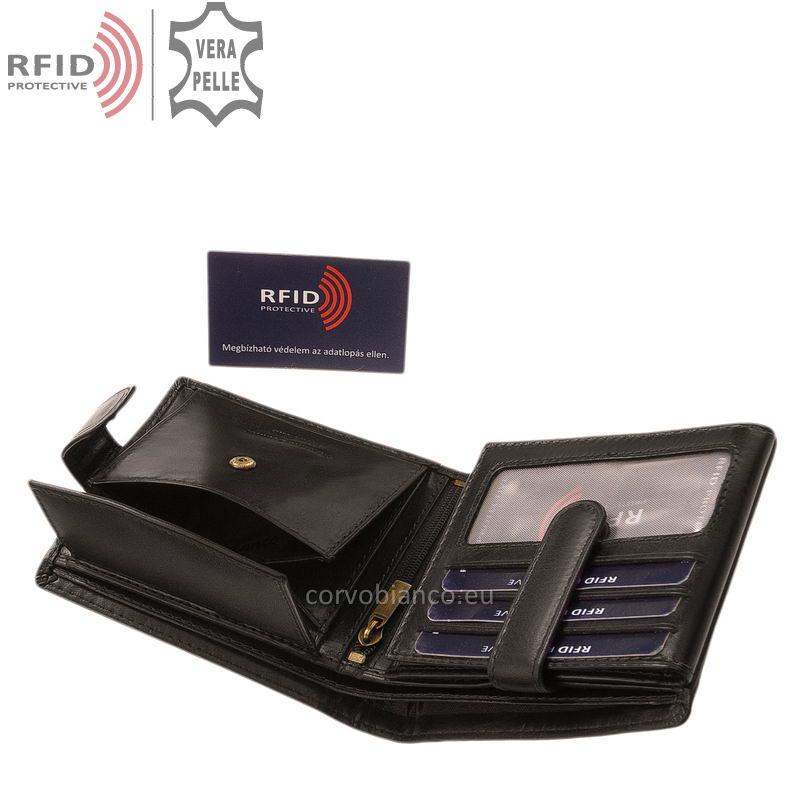 Corvo Bianco pénztárca RFID védelemmel RCBS6002L/T fekete belső kép-4