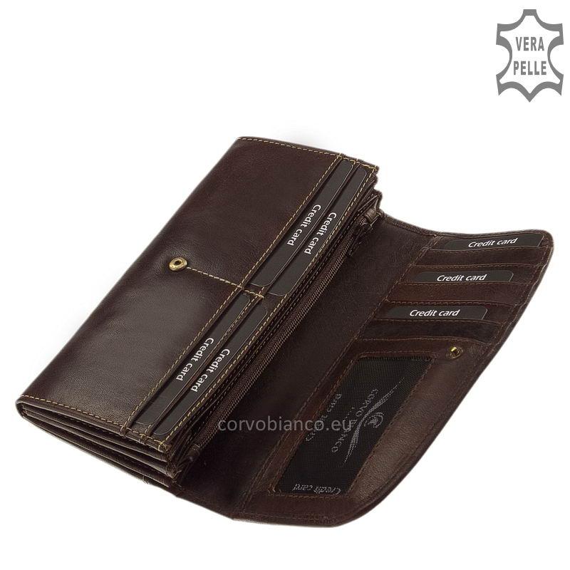 Corvo Bianco rusztikus felületű női pénztárca BV02 belső kép-1