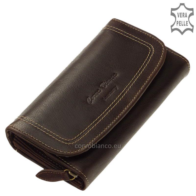 Corvo Bianco rusztikus felületű női pénztárca BV100