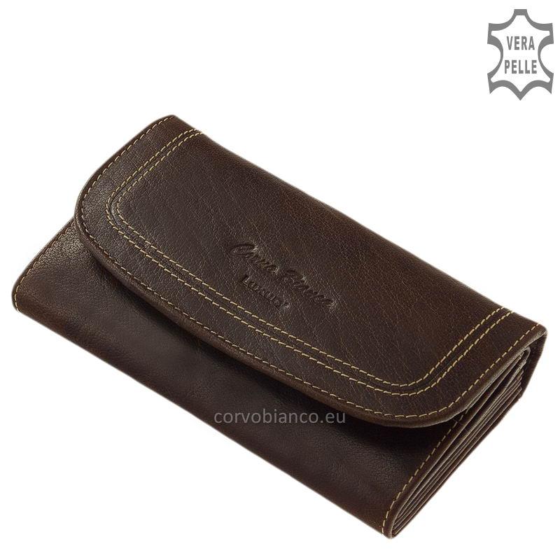 Corvo Bianco rusztikus felületű női pénztárca BV2017