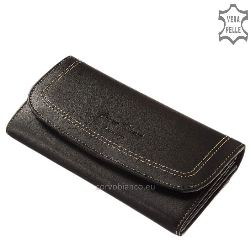 Puha tapintású Corvo Bianco női pénztárca CN02 fekete