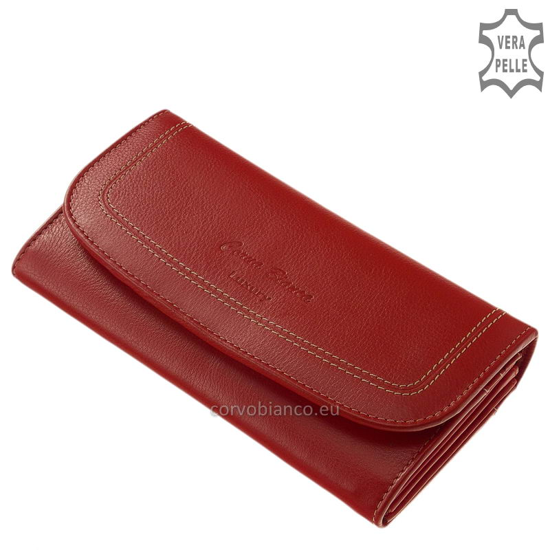 Puha tapintású Corvo Bianco női pénztárca CN02 piros