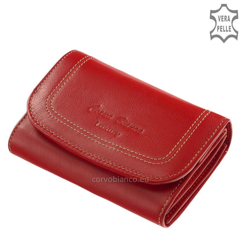 Puha tapintású Corvo Bianco női pénztárca CN068 piros