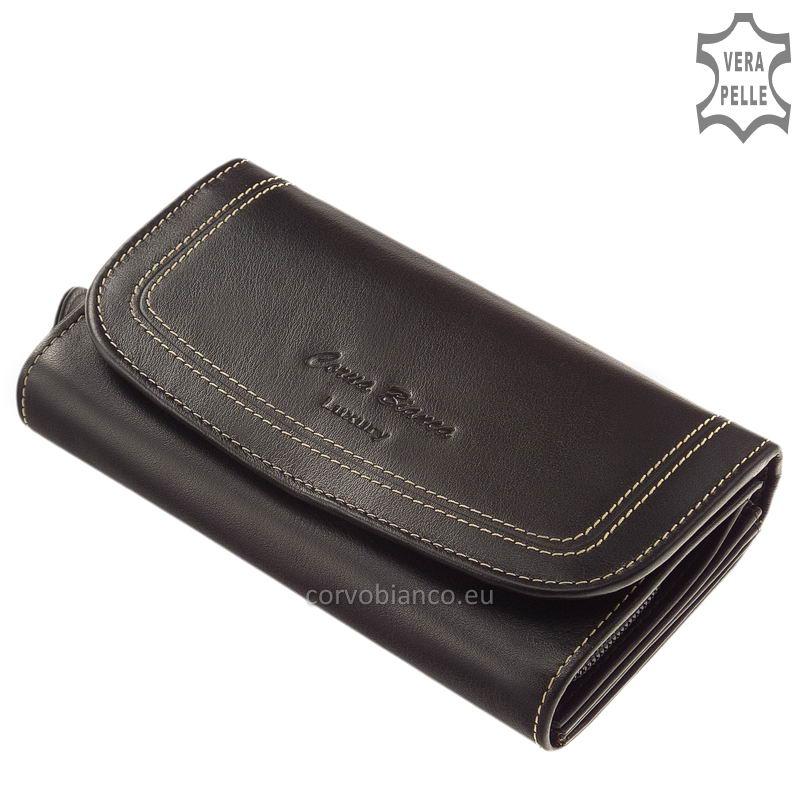 Puha tapintású Corvo Bianco női pénztárca CN100 fekete