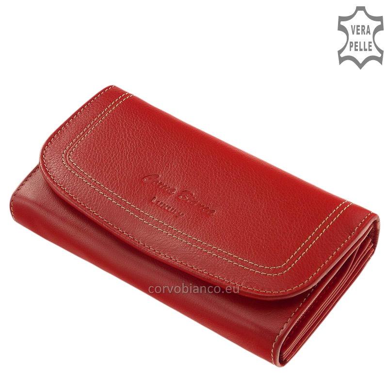 Puha tapintású Corvo Bianco női pénztárca CN100 piros