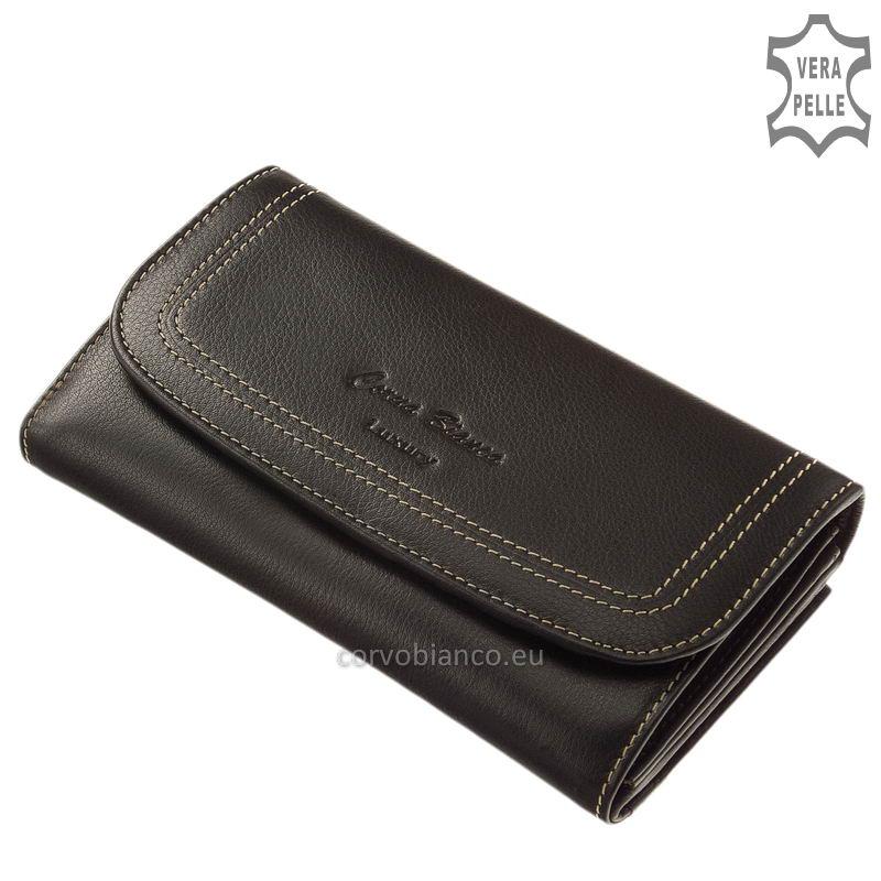 Puha tapintású Corvo Bianco női pénztárca CN155 fekete