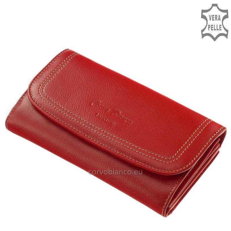 Puha tapintású Corvo Bianco női pénztárca CN155 piros