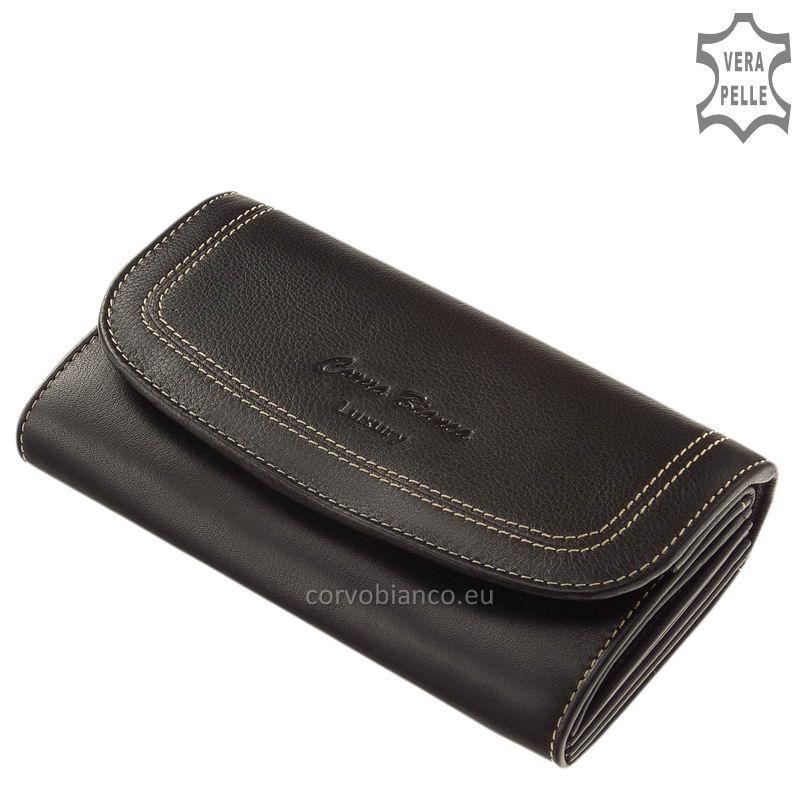 Puha tapintású Corvo Bianco női pénztárca CN2017 fekete