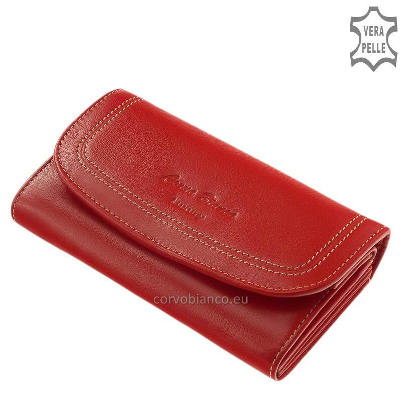 Puha tapintású Corvo Bianco női pénztárca CN2017 piros